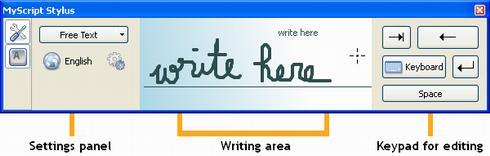 Программа к распознавания рукописного текста MyScript Stylus